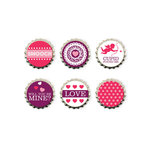 We R Memory Keepers - Crazy For You Collection - Bottle Caps