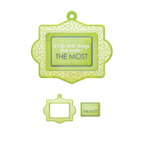 We R Memory Keepers - Feelin' Groovy Collection - Embossed Tags - Mini Frames - The Most