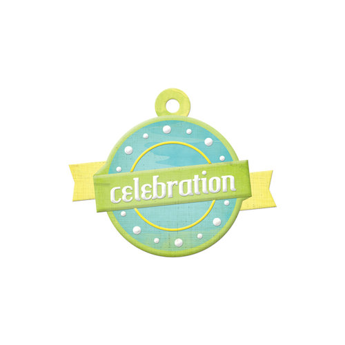 We R Memory Keepers - Feelin' Groovy Collection - Embossed Tags - Celebration