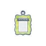 We R Memory Keepers - Feelin' Groovy Collection - Embossed Tags - Notes