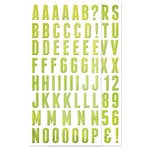 We R Memory Keepers - Feelin' Groovy Collection - Self Adhesive Chipboard with Glitter Accents - Alphabet