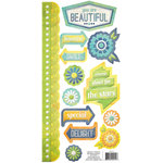 We R Memory Keepers - Feelin' Groovy Collection - Embossed Cardstock Stickers