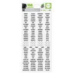 We R Memory Keepers - Label Stickers - Tab - Sans Serif - Black