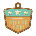 We R Memory Keepers - Happy Campers Collection - Embossed Tags - National Park