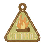 We R Memory Keepers - Happy Campers Collection - Embossed Tags - Campfire