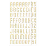 We R Memory Keepers - Happy Campers Collection - Self Adhesive Chipboard with Foil Accents - Alphabet