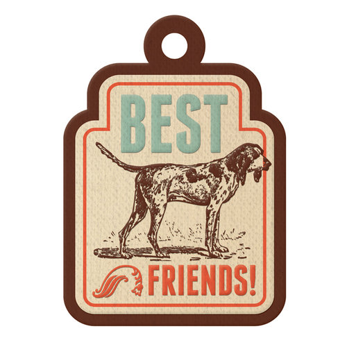 We R Memory Keepers - Country Livin' Collection - Embossed Tags - Best Friends