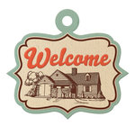We R Memory Keepers - Country Livin' Collection - Embossed Tags - Welcome