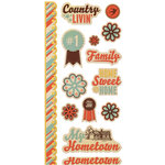 We R Memory Keepers - Country Livin' Collection - Embossed Cardstock Stickers
