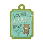 We R Memory Keepers - Storytime Collection - Embossed Tags - Just Right