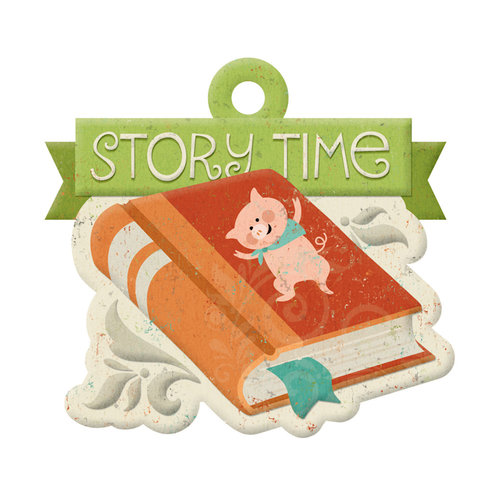We R Memory Keepers - Storytime Collection - Embossed Tags -Story Time