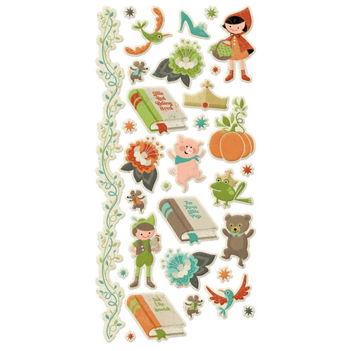 We R Memory Keepers - Storytime Collection - Embossed Cardstock Stickers
