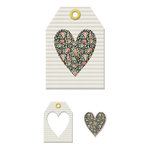 We R Memory Keepers - Chalkboard Collection - Embossed Tags - Mini Frames - Heart