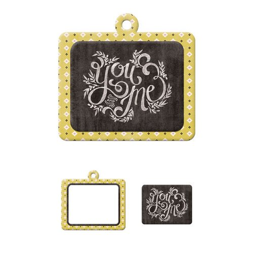 We R Memory Keepers - Chalkboard Collection - Embossed Tags - Mini Frames - You and Me