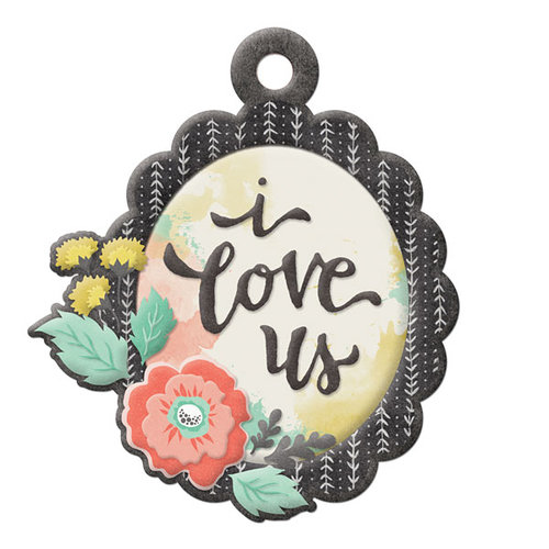 We R Memory Keepers - Chalkboard Collection - Embossed Tags - I Love Us