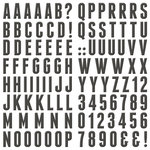 We R Memory Keepers - Bewitched Collection - Self Adhesive Chipboard with Foil Accents - Alphabet