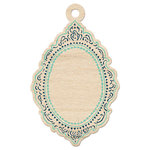 We R Memory Keepers - Inked Rose Collection - Wood Tag - Vintage Frame