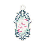 We R Memory Keepers - Inked Rose Collection - Embossed Tags - So Happy