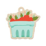 We R Memory Keepers - Farmers Market Collection - Wood Tag - Berry Basket