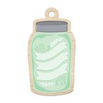 We R Memory Keepers - Farmers Market Collection - Wood Tag - Mason Jar