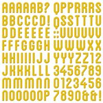 We R Memory Keepers - Farmers Market Collection - Self Adhesive Layered Chipboard - Alphabet