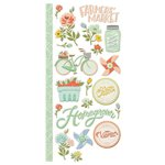 We R Memory Keepers - Farmers Market Collection - Embossed Cardstock Stickers