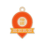 We R Memory Keepers - Jet Set Collection - Wood Tag - You Are Here