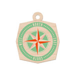 We R Memory Keepers - Jet Set Collection - Wood Tag - Compass