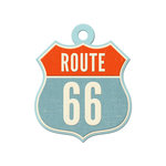 We R Memory Keepers - Jet Set Collection - Embossed Tags - Route 66