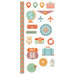 We R Memory Keepers - Jet Set Collection - Embossed Cardstock Stickers