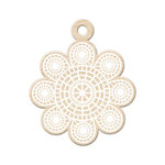 We R Memory Keepers - Indian Summer Collection - Wood Tag - Summer Lace
