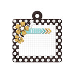 We R Memory Keepers - Indian Summer Collection - Embossed Tags - Summer Notes