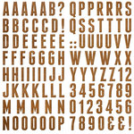 We R Memory Keepers - Indian Summer Collection - Self Adhesive Layered Chipboard - Alphabet
