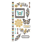 We R Memory Keepers - Indian Summer Collection - Embossed Cardstock Stickers