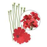 We R Memory Keepers - Crepe Paper Flower Kit - Red