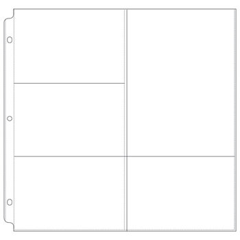 We R Memory Keepers - 12 x 12 Page Protectors with Four 4 x 6 One 6 x 8 Photo Sleeves - 10 Pack