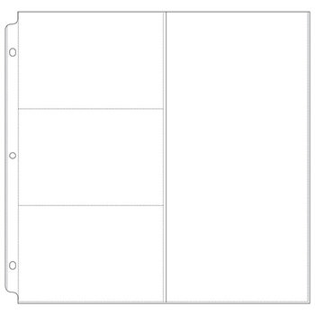 We R Memory Keepers - 12 x 12 Page Protectors with Three 4 x 6 One 6 x 12 Photo Sleeves - 10 Pack