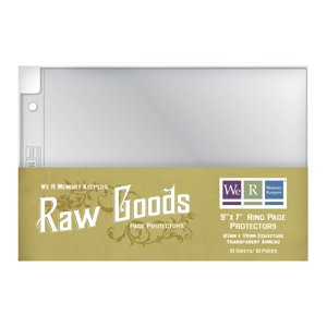 We R Memory Keepers - Raw Goods Collection - 5x7 Page Protectors