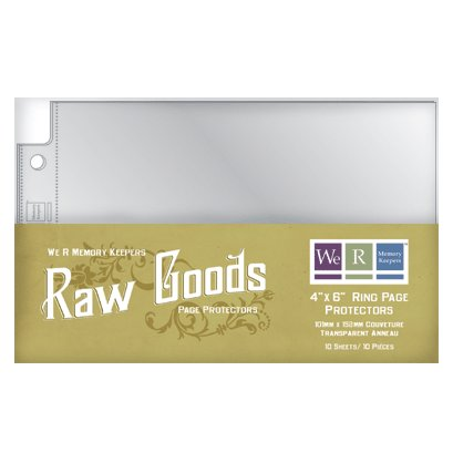 We R Memory Keepers - Raw Goods Collection - 4x6 Page Protectors