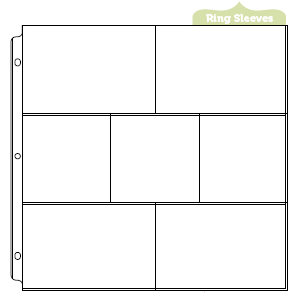 We R Memory Keepers - 12 x 12 Page Protectors with Four 4 x 6 Three 4 x 4 Inch Photo Sleeves - 10 Pack