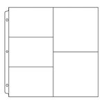 We R Memory Keepers - 12 x 12 Page Protectors with Three 4 x 6 Two 6 x 6 Inch Photo Sleeves - 10 Pack