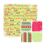 We R Memory Keepers - White Out Christmas Collection - 12 x 12 Double Sided Paper - Cheery, CLEARANCE