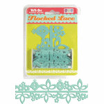 We R Memory Keepers - White Out Nonsense Collection - Self Adhesive Flocked Lace - Blue Bird, CLEARANCE