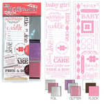 We R Memory Keepers - Adhesive Rub-On Kits - Foil Glitter Flock - Baby Girl, CLEARANCE