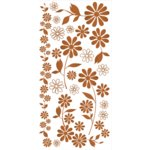 We R Memory Keepers - Precious Metals Collection - Rub Ons - Coppered Out Flowers, CLEARANCE
