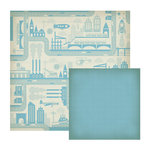 We R Memory Keepers - GeoHectic Collection - 12 x 12 Double Sided Paper - City Blocks