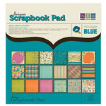We R Memory Keepers - Vintage Blue Collection - 12 x 12 Designer Scrapbook Pad, CLEARANCE