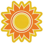 We R Memory Keepers - 72 and Sunny Collection - 12 x 12 Die Cut Paper - Sunburst, CLEARANCE
