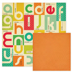 We R Memory Keepers - 72 and Sunny Collection - 12 x 12 Double Sided Paper - Alphabet, CLEARANCE