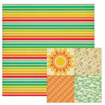 We R Memory Keepers - 72 and Sunny Collection - 12 x 12 Double Sided Paper - Rainbow
